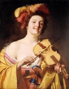 Gerrit-van-Honthorst suonatrice di violino