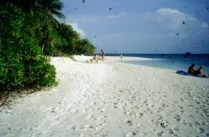 Maldive Madoogali spiaggia