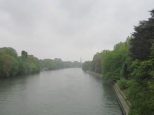 Torino lungo le rive del Po