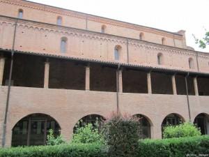 Abbazia di Nonantola,  il porticato