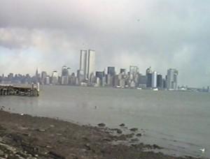 New York, Manhattan con Twin Towers prima dell'11 settembre 2001