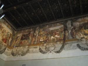 Palazzo Magnani, Bologna, fregio pittorico del salone