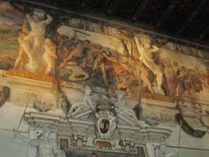 Palazzo Magnani, Bologna, episodio fregio pittorico salone