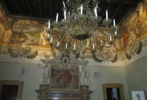 Palazzo Magnani, Bologna, fregio pittorico salone